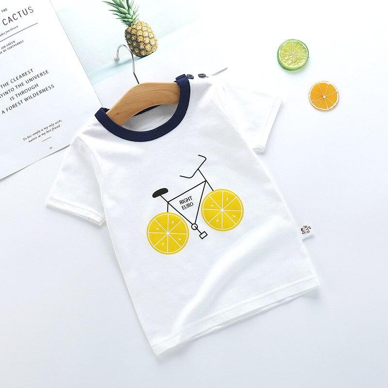 Camiseta para niños, Camiseta de chica de dibujos animados Kawaii, camiseta blanca de cuello redondo con mangas cortas Bebé, camiseta para niños, camiseta infantil, ropa infantil