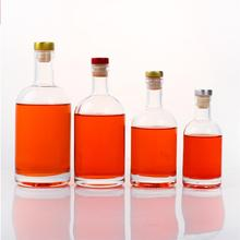 2 uds Vodka botella para vino licor engrosada transparente botella de whisky de cristal 750ml 500ml 375mL 200mL