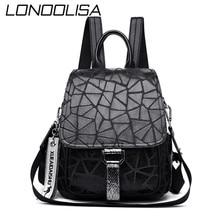 Women Leather Backpacks 2020 Vintage Female Shoulder Bag Sac a Dos Travel Ladies Bagpack Mochilas School Bags For Girls Preppy