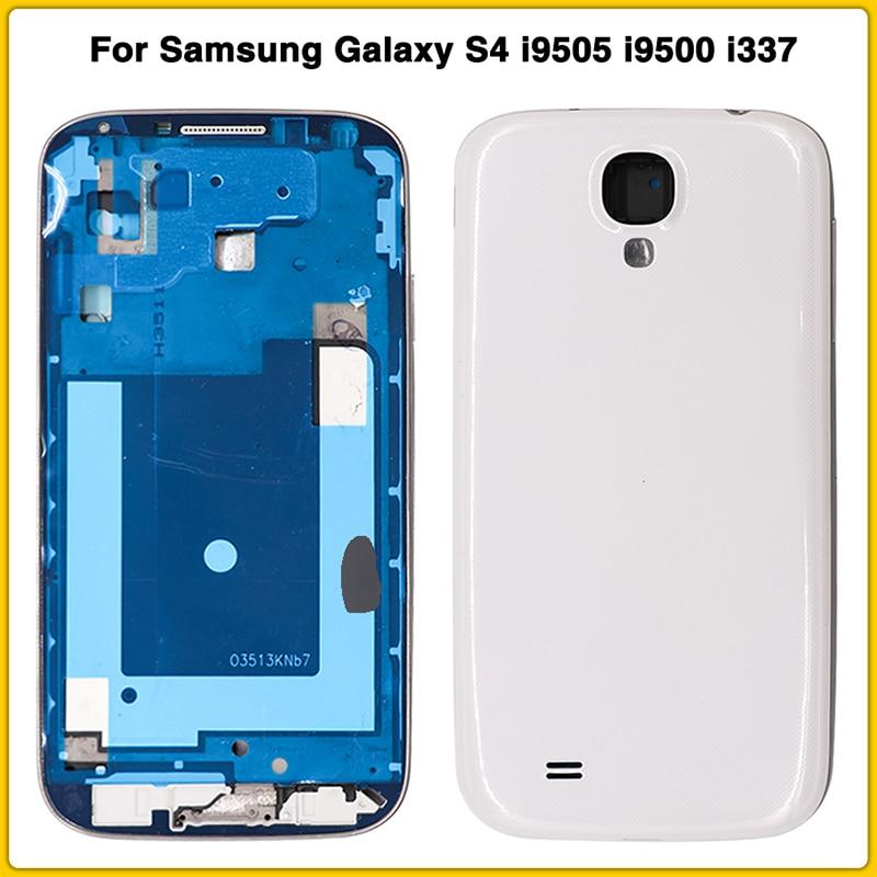 Nuevo S4 cobertura completa Funda para samsung Galaxy S4 i9505 i9500 i337 batería de la puerta de la cubierta trasera caso bisel de la placa del marco medio