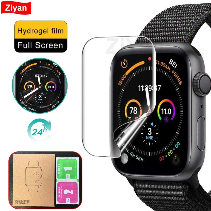 screen protector film for apple watch 6 se 5 4 40mm 44mm clear full protective film not glass for iwatch series 3 2 1 38mm 42mm ZiYan Clear Full Protective Film For iWatch 4 5 6 SE 40MM 44MM Soft Screen Protector For Apple Watch 3 2 1 38MM 42MM Not Glass