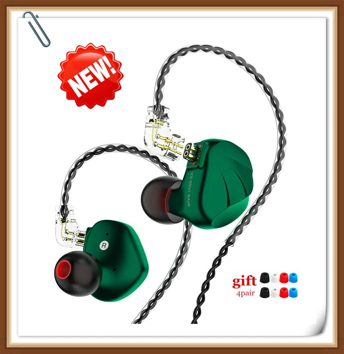 ¡Novedad! Auriculares deportivos TRN VX 6BA + 1DD Hybird Monitor HIFI para correr, auriculares intraurales TRN V90 BA5 T2 T3 T4