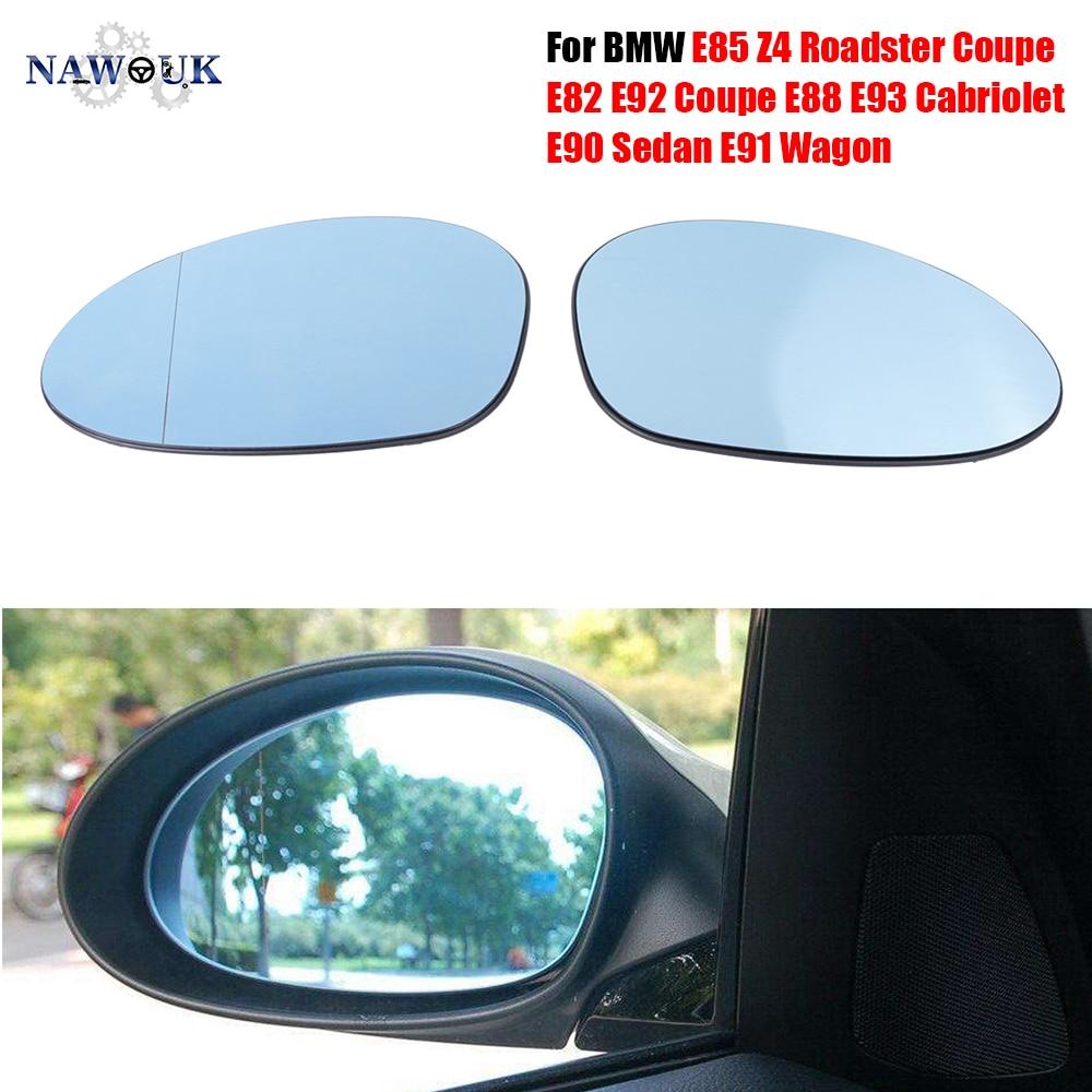 Car Electric Heated Rear View Wing Mirror Glass For BMW E85 Z4 Roadster E82 E86 E92 Coupe E88 E93 Cabriolet E90 Sedan E91 Wagon
