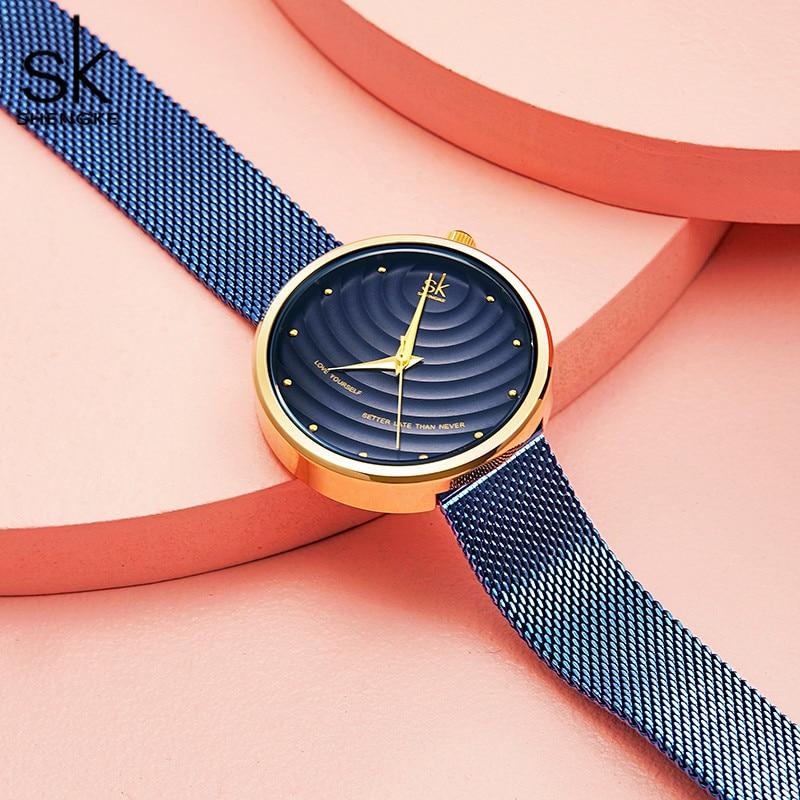 Shengke Women Watches Women Fashion 2020 Geneva Designer Ladies Watch Luxury Brand Diamond Quartz Wrist Watch Gifts For Women enlarge