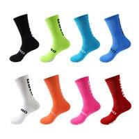 Велосипедные носки, мужские и женские гольфы, носки для футбола, носки для бега, Спортивные командные походные хлопковые носки выше колена