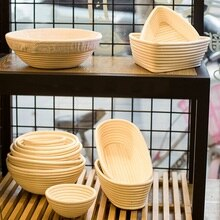 Bread Fermentation Rattan Basket Various Shapes Wicker Bread Dough Banneton Baking Storage Basket