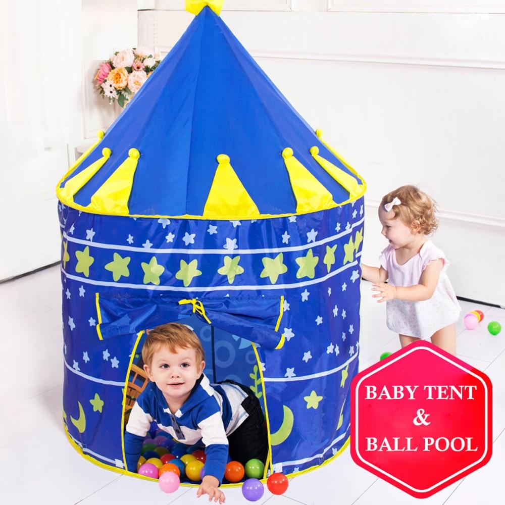 Kinder zelt Tragbare Wigwam Kinder Zelt Faltbare Ball Pool Tipi Zelt Für Kinder Klapp Burg Spielen Haus Outdoor Indoor spielzeug