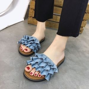Women's Flat Slippers Summer Fashion 2020 New Style All-match Sandals Shoes Woman