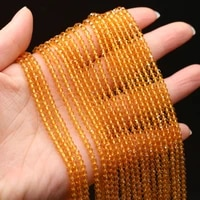 natural stone beads small yellow faected shiny bling crystal bead for jewelry making diy necklace bracelet crafts gifts