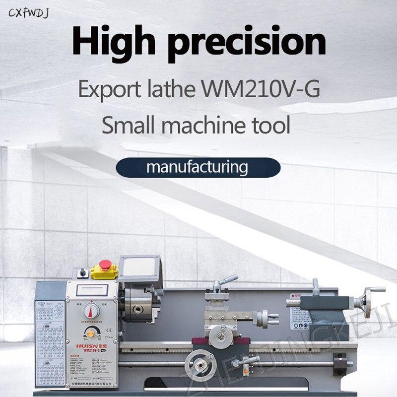 WM210-G небольшой металлический токарный станок для бытовой техники станок Настольный станок инструмент обучения токарный станок с ЧПУ обраб...