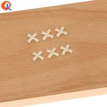 Diseño Cordial 100 piezas 11*12MM accesorios de joyería/abalorios DIY/hallazgos de pendientes/Cadena de diamantes de imitación/hecho a mano/conectores de pendientes