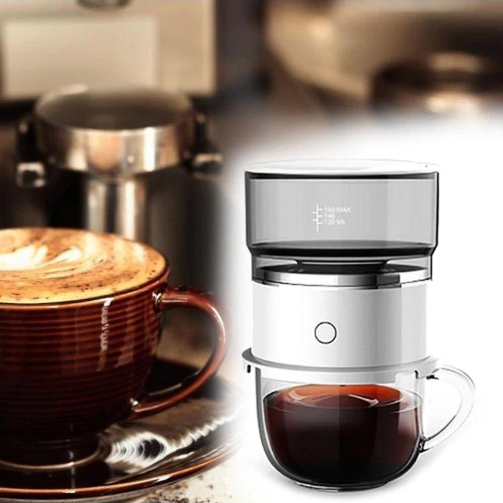 السفر صانع القهوة المنزلية بطارية تعمل بالطاقة المحمولة التلقائي يده بالتنقيط ماكينة القهوة رفيق مسحوق ماكينة القهوة
