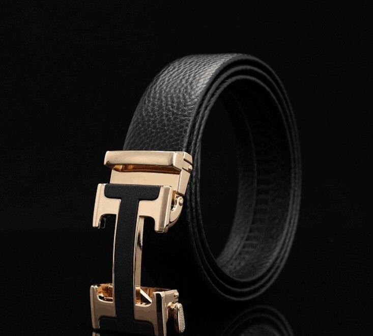 Male Genuine Leather Designer Belts Men High Quality Men's Belt Luxury Automatic Buckle Belts for Men Cinturones Hombre no onepaul cowhide leather strap designer quality metal belts men high luxury jeans waistband men belts automatic buckle belt