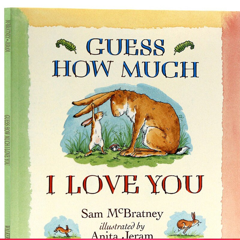 Guess how much I love you English original picture book Liao Caixing book cartoon animation picture children English book 3-6