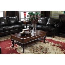 Table basse en bois massif avec fonction de rangement GF49