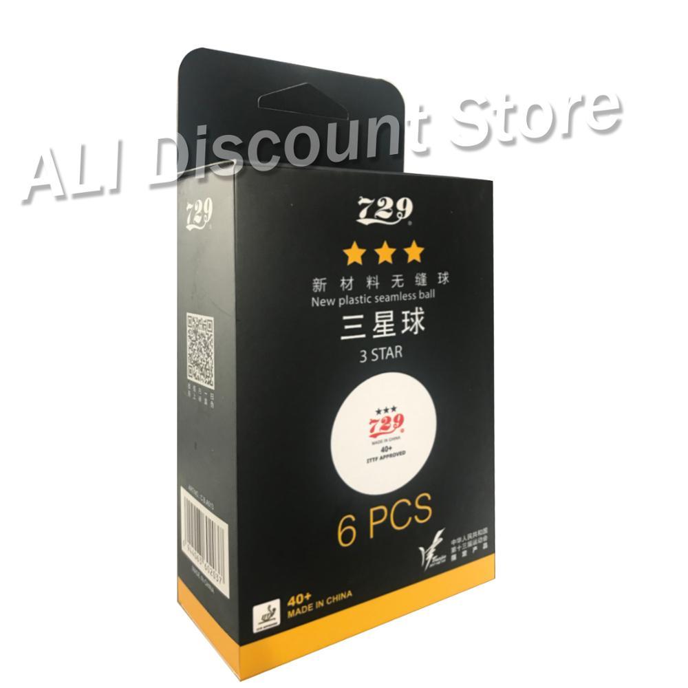 6x729 3-Star Seamless 40 + pelotas de tenis de mesa de plástico nuevo Material ITTF aprobado Poly Pelotas de ping pong