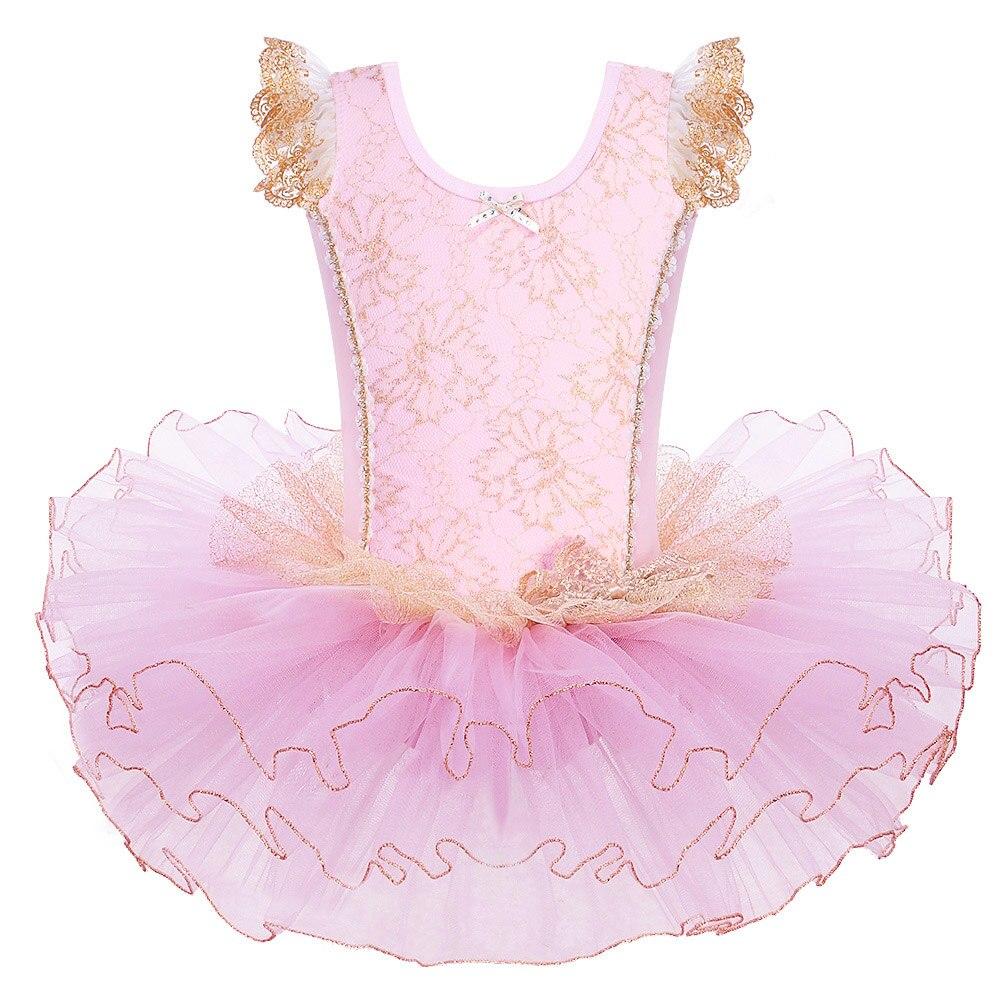 BAOHULU de algodón de color rosa vestidos de Ballet para chicas niños tutú de Ballet bailarina de baile ropa Ropa de baile infantil