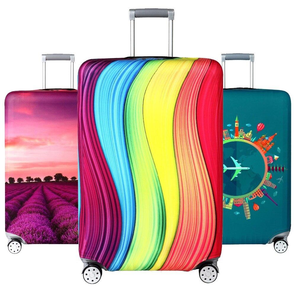 Elastische Reise Gepäck Abdeckung Staubdicht Schutz Reise Koffer Abdeckung Für 18-32 Zoll Trolley Tasche Fall Gepäck Zubehör