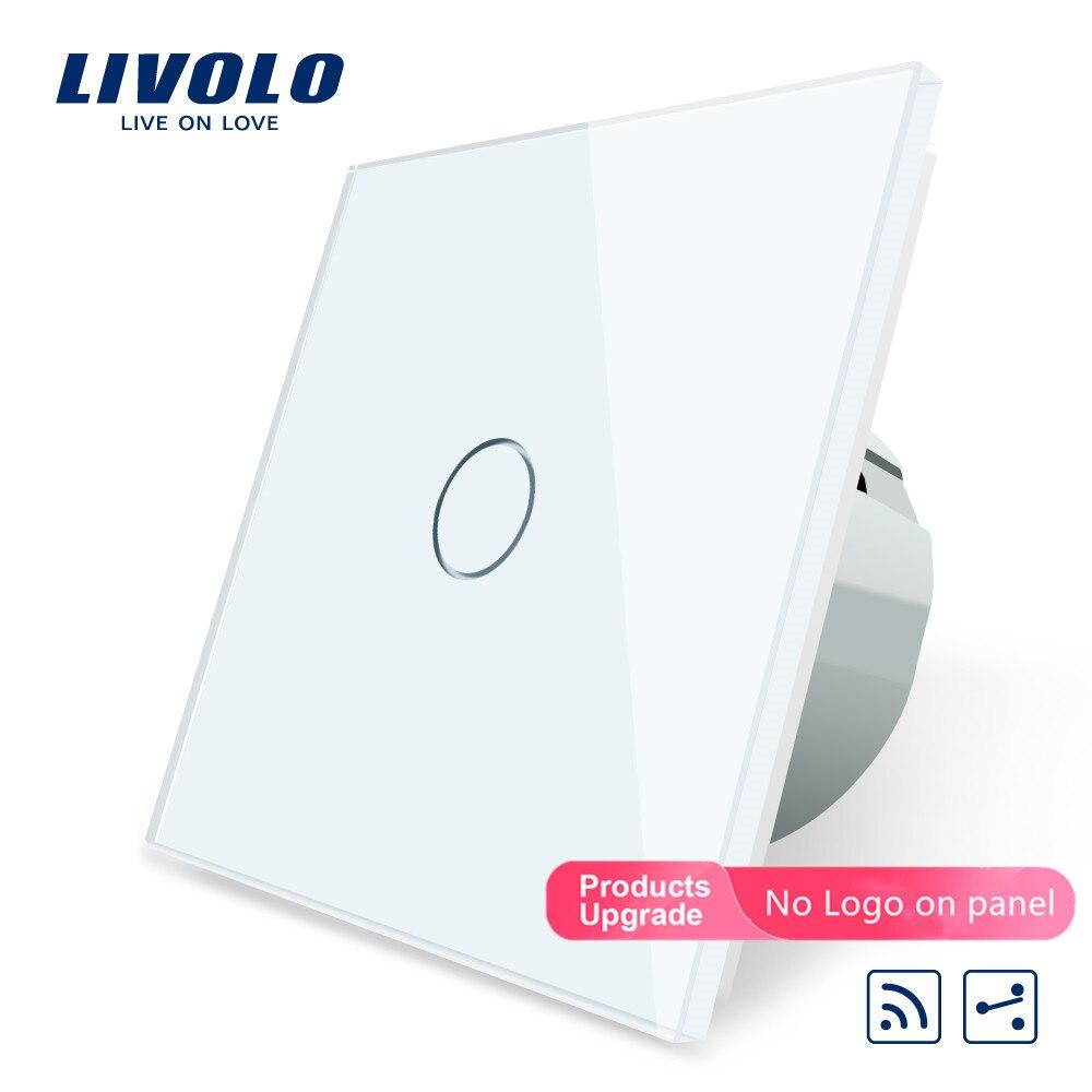 2017 Smart Home estándar de la UE, interruptor remoto táctil, panel de cristal blanco, 2 pandillas de 2 vías, AC 220 ~ 250V + indicador LED