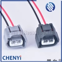 2 pin ignition coil connector plug with cable wire harness for hyundai accent 1 6l elantra j3 toyota kia 90980 10901 90980 10899