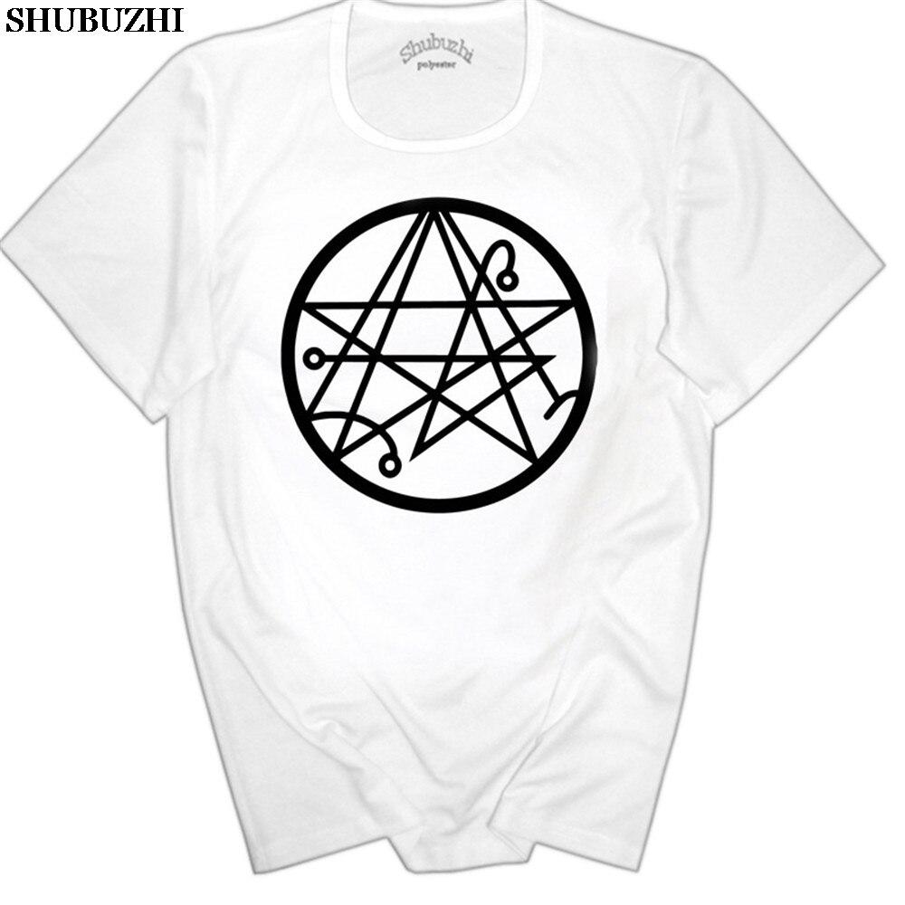 Cthulhu Necronomicon H P Lovecraft profundo los viejos sello Geek hombres Camiseta Tee
