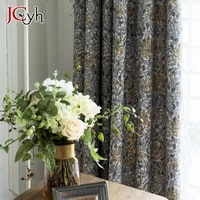 european style luxury blackout curtains for living room window bedroom gray retro floral blackout curtains tend blinds vorhang