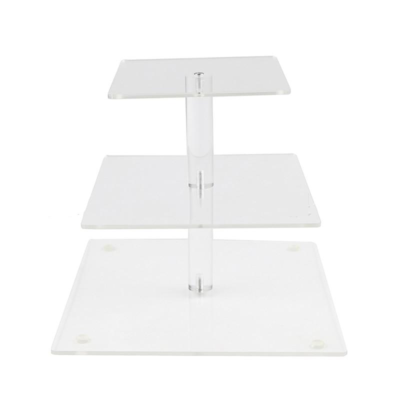 3 niveles soporte para pasteles 10cm 21cm cumpleaños boda fiesta torre para cupcakes exhibición pasteles titular Decoración