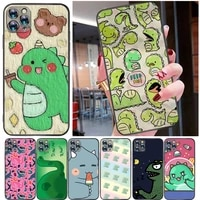 cute funny couples dinosaur flowers color painting phone case for iphone 11 pro max funda coque carcasa back cover cases