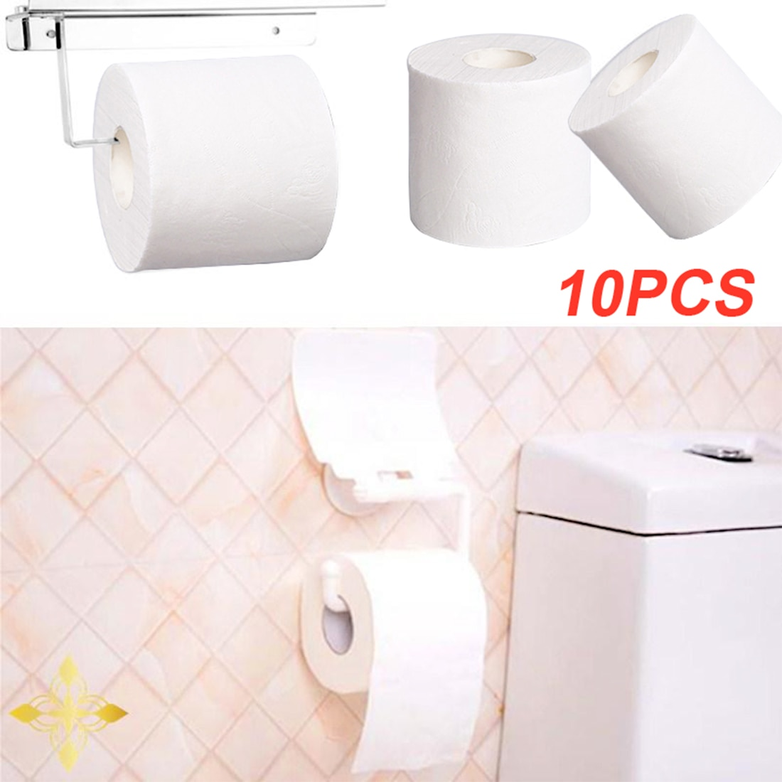 10pcs 3ply Toilet Paper-Towels White Toilet Tissue Hollow Replacement Roll Paper Prevent Flu Cleaning Toilet Tissue z1