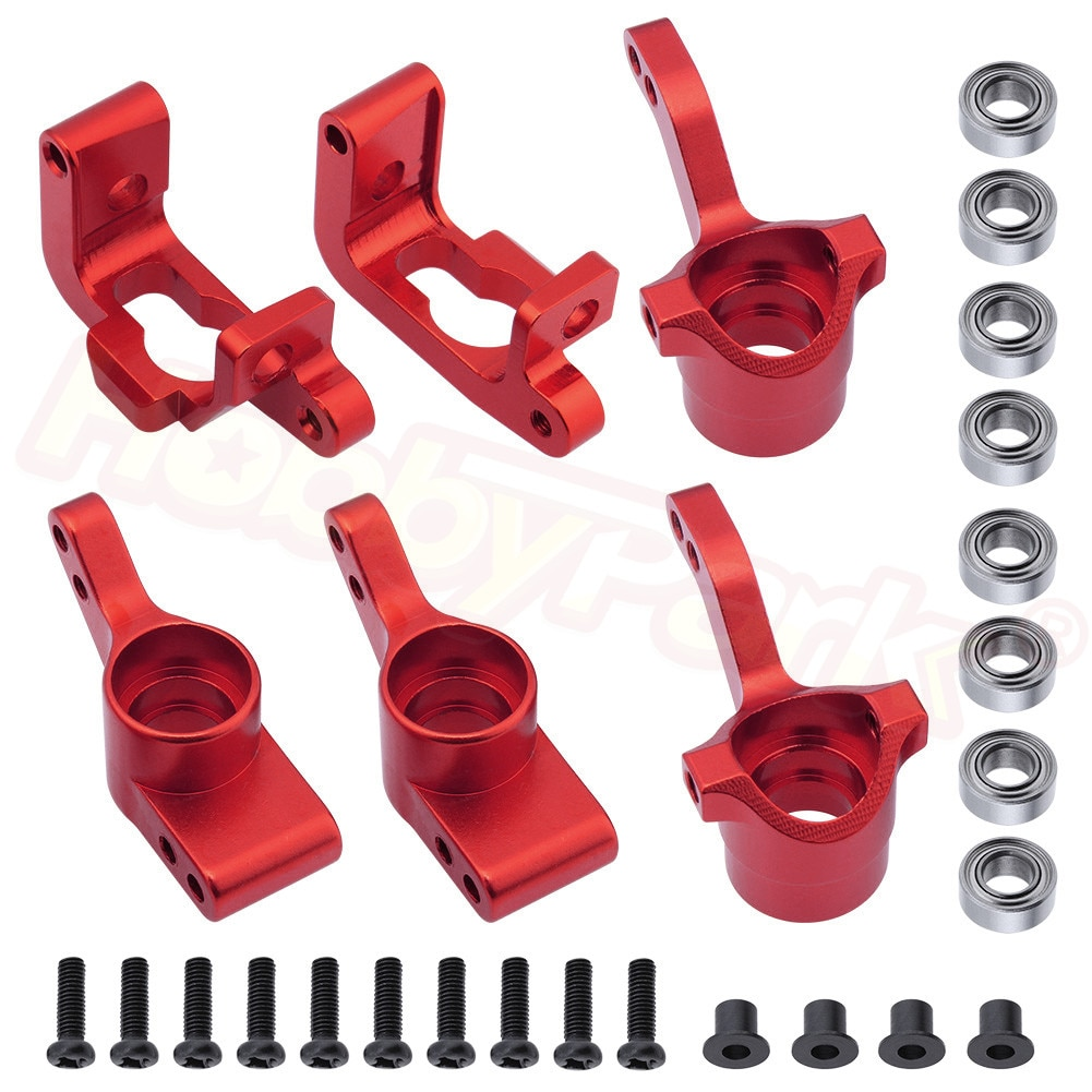 For HPI Bullet ST 3.0 MT WR8 RTR Kit Aluminum Steering Knuckle C Hub Carrier Replace #108077 108078 108021 101208 Upgrade Parts