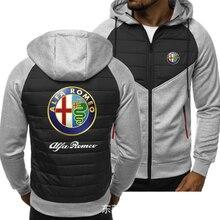 2021new Men for ALFA ROMEO Car Logo Print Spring Autumn Mens Jacket Casual Sweatshirt Long Sleeve Me