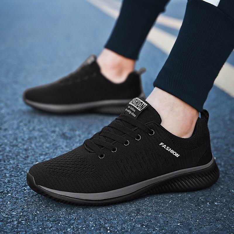 Marca masculina sapatos casuais respirável tênis macio de alta qualidade malha verão voando tecido sapatos casuais krasovki zapatos hombre