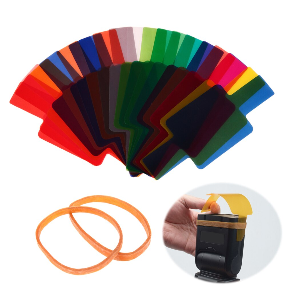 20 шт цветные гелевые фильтры вспышки Speedlite для Canon Yongnuo DSLR камеры комбинированный гелевый набор