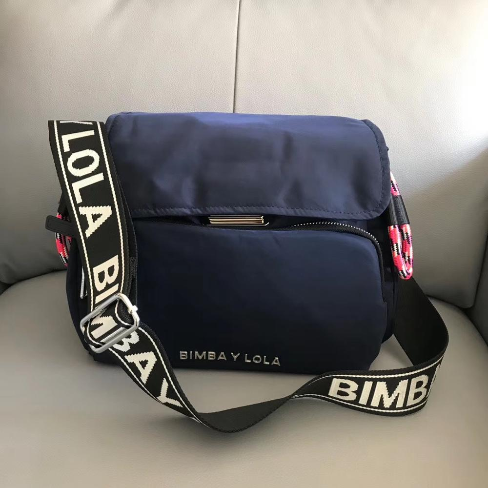 Novo saco do mensageiro das mulheres bimba y lola bolsas senhora crossbody saco bimbaylola