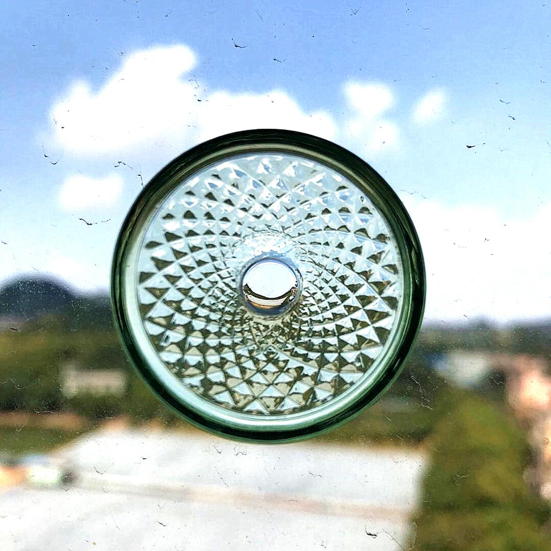 healthcare wellness life mini bioglass diamond shape for drink energy water ,protcter eyes ,mini bio disc, 4pcs one set,