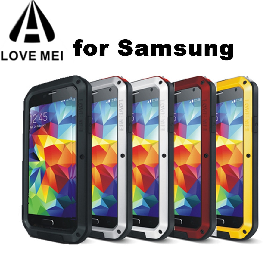 LOVE MEI Résistant À Leau Boîtier En Métal pour SAMSUNG Galaxy S10 S8 S9 S20 Plus S20 FE Note 10 9 8 A5 2017 A6 A8 A8S A70 A50 A51 A71