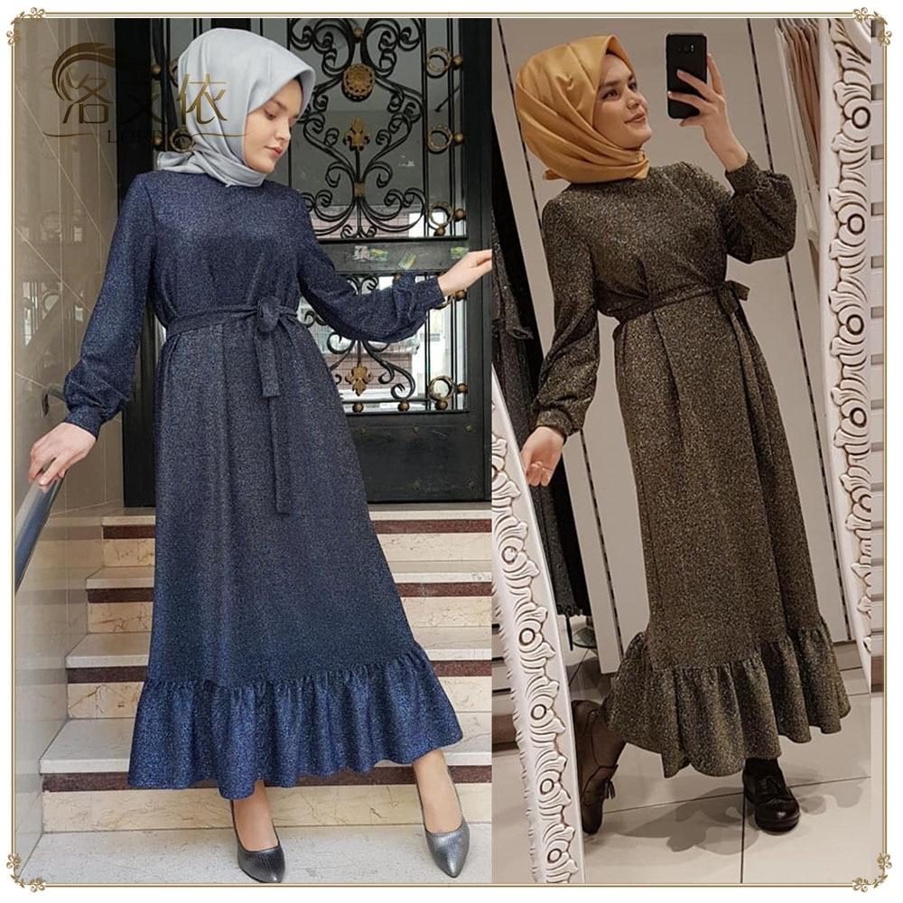Ramadan Eid Mubarek Dubai Abaya Turkey Hijab Muslim Dress Women Kaftan Dresses Islam Clothing Robe Femme Ete Musulmane Vestidos