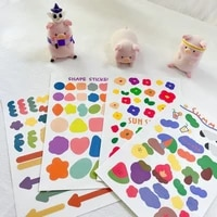 korean ins colorful creative shape cute stickers flower paster hand account mobile phone stationery diy decorative sticker
