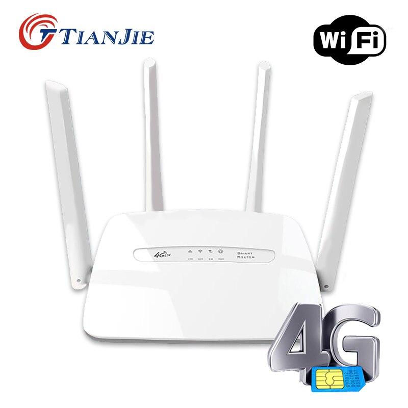 TIANJIE C300-مودم مودم WiFi CPE 3G/4G LTE ، غير مقفول ، نقطة وصول منزلية ، هوائي ماليزي غير محدود مع فتحة بطاقة Sim