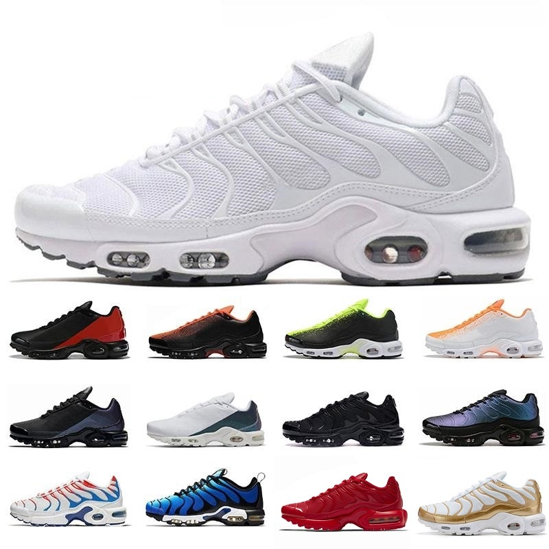 Tn più SE gli uomini scarpe da corsa triple nero bianco rosso 3D Occhiali Hyper blu vernice Spray mens trainer traspirante sport scarpe da ginnastica