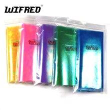 Wifreo 5bags X 15cmX110cm Strengthened Metalic Holographic Flash Film Durable Sabiki Fish Skin Film Assit Hook Wing Material