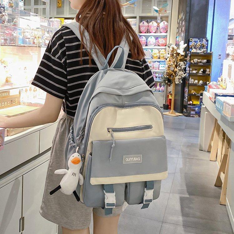 Unisex backpack for students schoolbag college shoulders bag for teenager girls travel bag lovers Wa