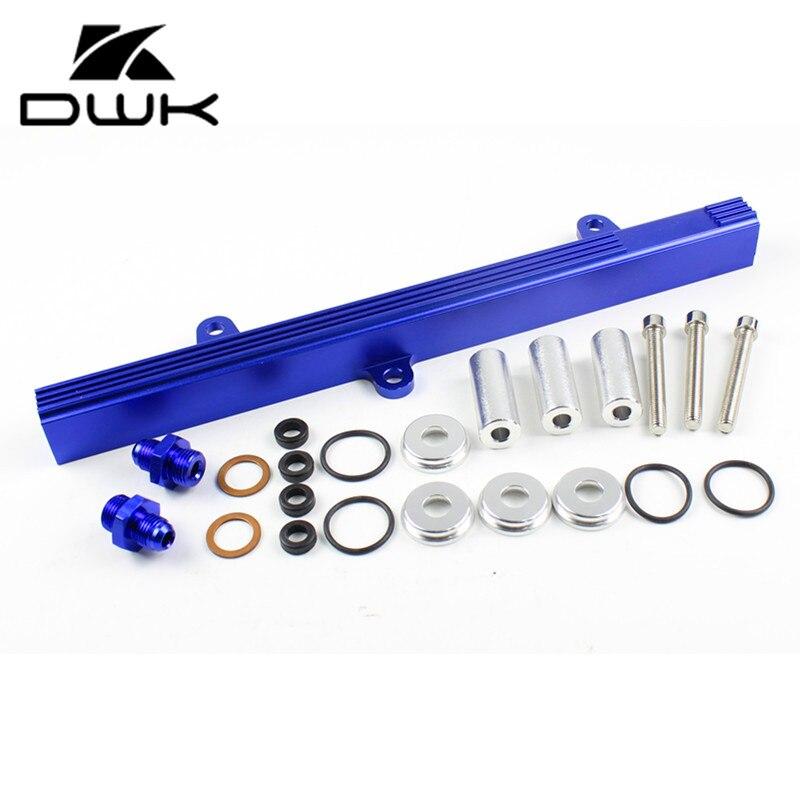 Kits de trilho de combustível de alumínio para nissan silvia s13 240sx 88-90, sr20 90-93-azul