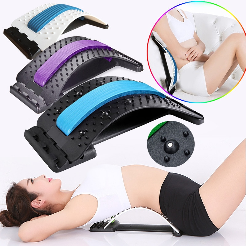Magnetic Neck And Back Massager Stretcher Muscle Relax Therapy Corrector Back Stretch Spine Stretcher Lumbar Support Pain Relief