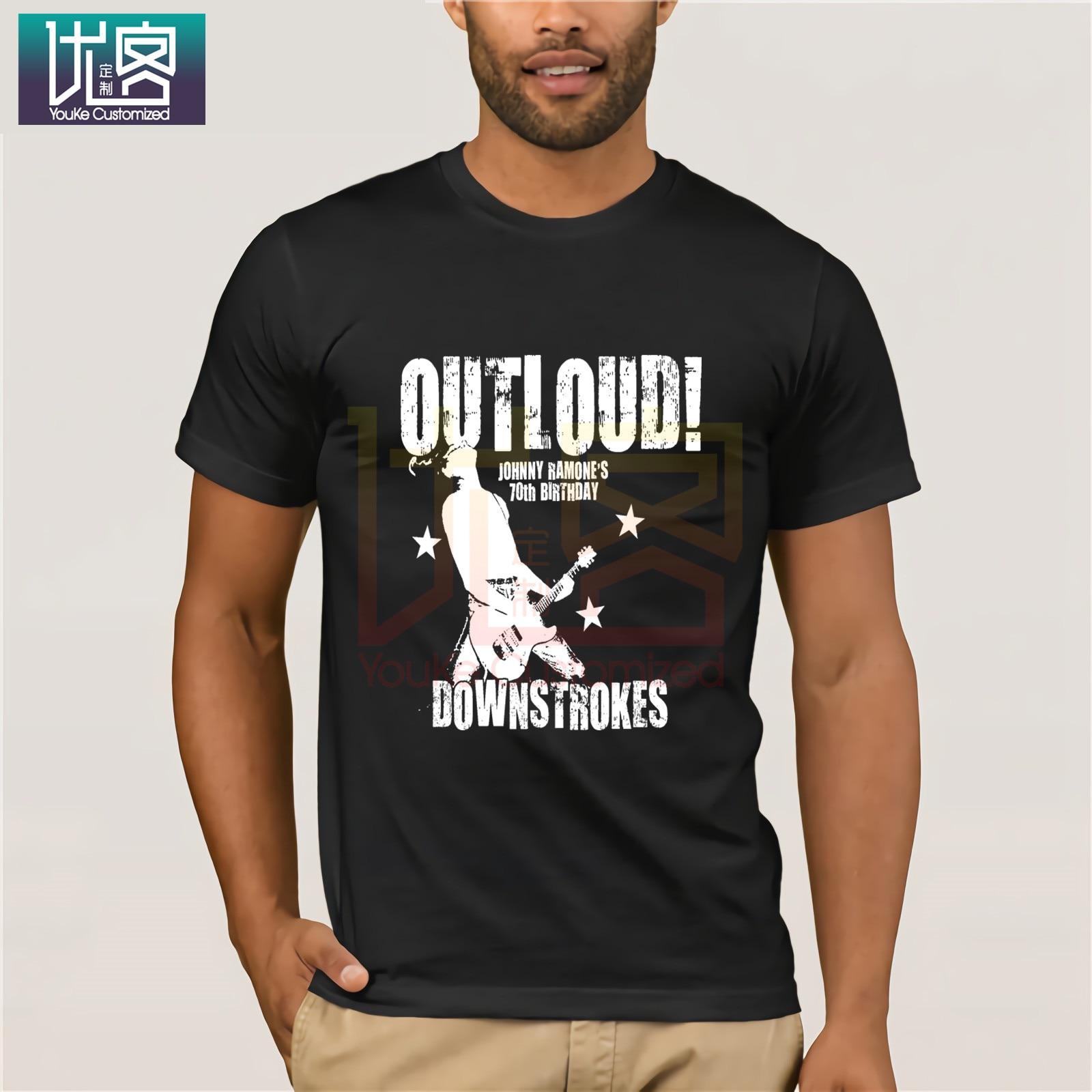 Johnny ramone 70th aniversário preto moda clássico 100% algodão dos homens legal t camisa do humor t camisa 100% algodão topos gráfico