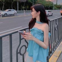 Price Summer New Niche Design Sweet off-Shoulder Beauty Back Halter Inner Wear Outer Wear Small Slin
