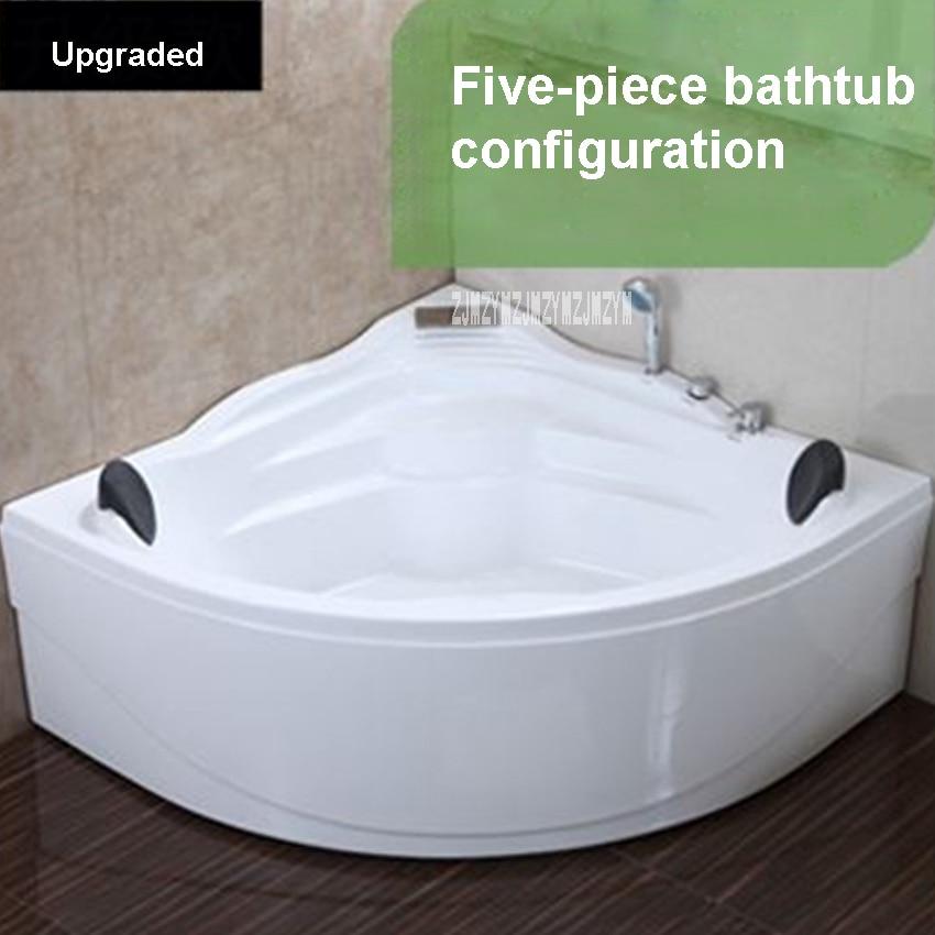 حوض استحمام أكريليك بطول 1.4 متر مع وسادة حمام وصنبور ، حوض استحمام زاوية مزدوج للمنزل/الفندق عالي الجودة