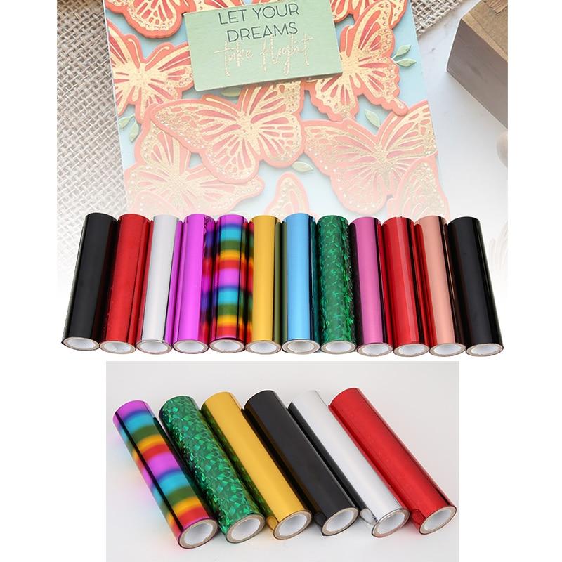 Foil Transfer Sheets 5mx15cm/Roll Heat Activated Foil For DIY Handicraft Hot Glimmer Foil Paper Transfer On Laser Printer