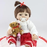 55cm realistic soft silicone simulation doll baby toys early education dedicated baby photography props doll body