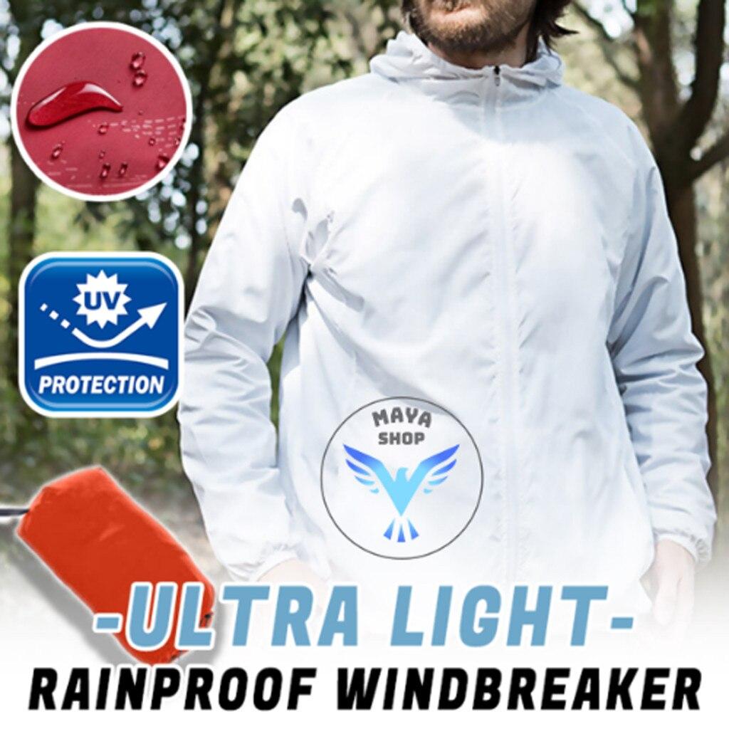 Chaquetas de ciclismo ultraligeras a prueba de lluvia Unisex de manga larga con capucha Jersey protección solar ropa Top Jaqueta
